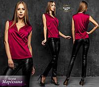 Шелковая блуза без рукавов Марселина