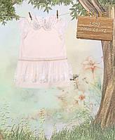 Нарядное платье для маленькой девочки с воротником из страз ТМ МОНЕ р-р 68,74,80,86,92