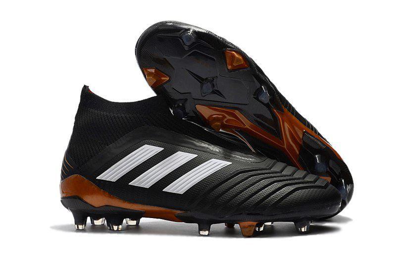 18c68840 Бутсы adidas Predator 18+ FG black/brown - Интернет-магазин