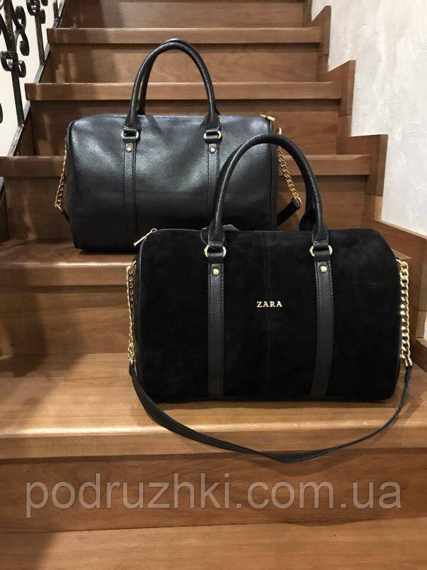 051e8c013c22 Женская стильная сумка ZARA черная - Интернет-магазин