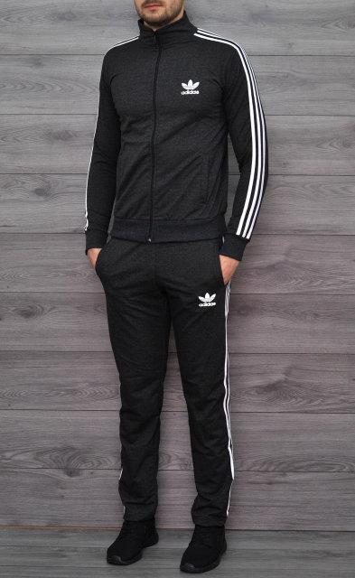 Мужской спортивный костюм Adidas (Адидас)! 7 цветов, темносерый! - Sport  style 8f1b9498301