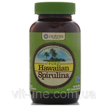 Nutrex Hawaii, Чистая гавайская спирулина, 500 мг 400 таблеток, фото 2