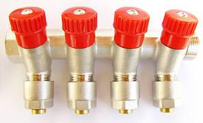 Коллектор 3/4G х 1/2 *16 - 4-ой (под 35*) с перекрыванием CRISTAL, фото 2
