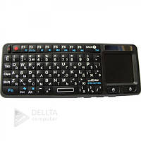 Клавиатура беспроводная Unbranded mini 106RF wireless mini, подсветка, 151х59х12.5 мм, цвет черный, вес 150 г, сенсорная панель с лазерной указкой