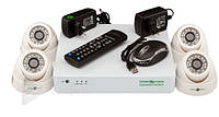 Комплект видеонаблюдения Green Vision GV-K-G01/04 720Р, гибридный AHD 4 канальный, 1/4'' CMOS OV, 1280x720, 1.0 Мр, система видеонаблюдения