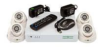 Комплект видеонаблюдения Green Vision GV-K-S12/04 1080P, AHD/ TVI/ CVI/ IP, 960H, 4 канальный, 1920х1080, 1/3'' CMOS SmartSens, Мр 2.0, система