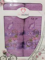Набор махровых полотенец TWO DOLPHINS  (2 шт.) TD31