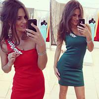 Платье женское ткань дайвинг!Только коралл на акции!Украшение отдельно продается + 50 грн!Супер платье!