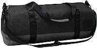 Спортивная сумка дорожная Bagland Staff 30л. черный/серый (сумки для спорта, мужская сумка, женская сумка)