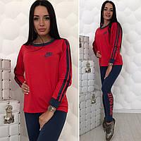 Женский спортивный костюм  Nike  цвет Красный