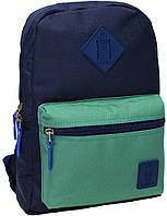 Городской рюкзак школьный Bagland mini 8л. синий/зеленый (шкільний рюкзак, мини рюкзачок, портфели, наплічник)