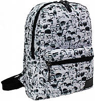 Городской рюкзак школьный Bagland mini 8л. Лица (шкільний рюкзак, мини рюкзачок, портфели, наплічник)