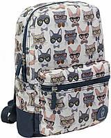 Городской рюкзак школьный Bagland mini 8л. Кот в очках (шкільний рюкзак, мини рюкзачок, портфели, наплічник)