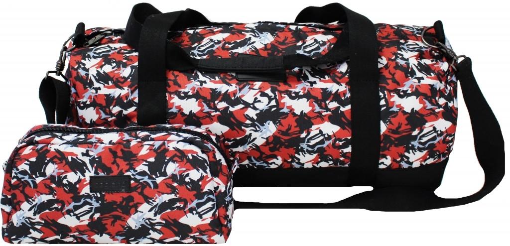 Спортивная сумка дорожная Bagland Staff 30л. Абстракция (спортивная су