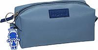 Косметичка сумка для косметики Bagland серый 1 л. (сумочка, пенал для косметики, сумки, косметички, хранение)