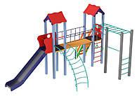 Детские площадки + спортивный комплекс Универсал высота горки 1,8 м, фото 1