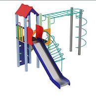 Детские площадки + спортивный комплекс Умелые ручки высота горки 1,5 м, фото 1