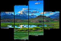 Модульная картина Горный пейзаж 160*114 см