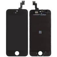 Дисплей iPhone 5S, iPhone SE, чёрный, с сенсорным экраном, с рамкой, Original
