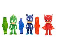 Фигурки 3 шт -Кэтбой, Гекко, Амайя -с браслетами- Герои в масках -Pj Masks- Пи-Джей Маски (10 см)