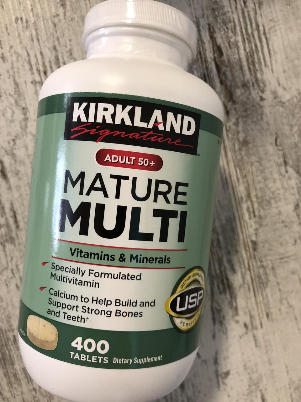 Витамины и минералы после 50 лет Kirkland Signature Adult 50