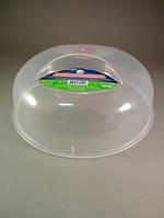 Крышка для микроволновой печи пластиковая прозрачная 25 см Алеана AL-0106