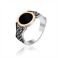Мужской перстень с ониксом Юрьев 359к