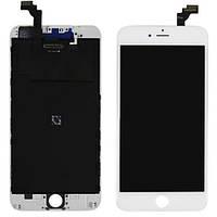Дисплей iPhone 6 Plus, белый, с рамкой, с сенсорным экраном, High Copy