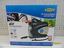 Компресор автомобільний 12В цифровий датчик тиску, LED дисплей, функція автоматичного відключення RAC635