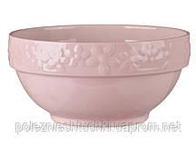 Салатник фарфоровый 16 см., розовый Rombi, Lefard