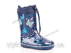 Обувь для непогоды оптом в Одессе. Детские резиновые сапоги бренда Солнце для девочек (рр. с 28 по 35)