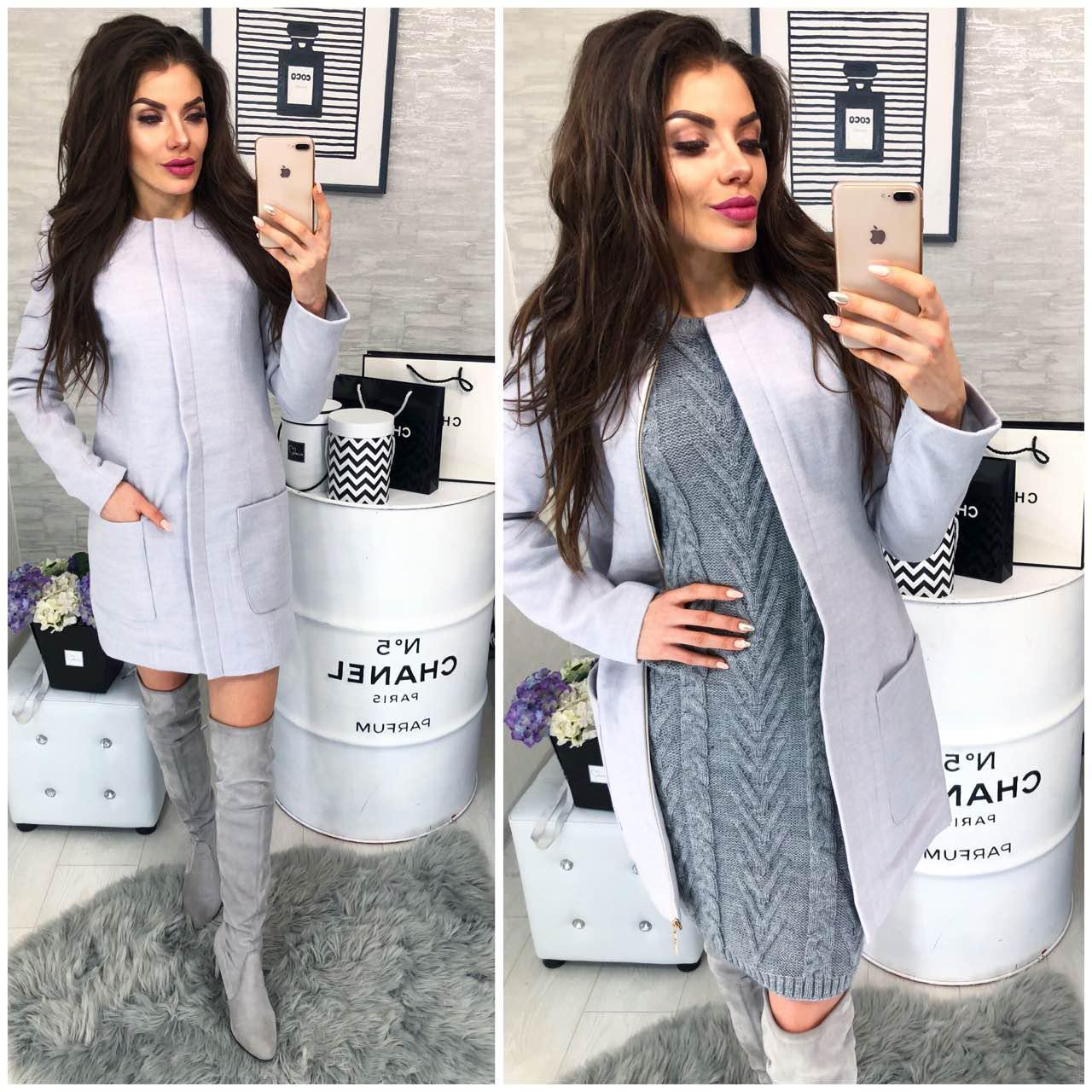 Пальто кашемір жіноче, модель 808, в 4 -х кольорах