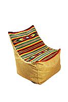 """Бескаркасное кресло XXL, мод. """"Наш Кабанчик"""", модерновая украинская вышиванка."""