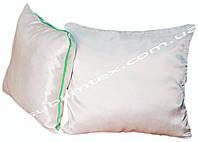 Подушка атласная,искусственный наполнитель, форма квадратная, размер 35х35см., Кант зеленый