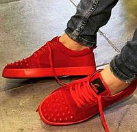 Стильная обувь Christian Louboutin плотная эко кожа Турция