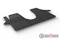 Резиновые коврики Gledring для Volkswagen  Transporter (T5-T6) 2004->