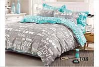 Комплект постельного белья евро Love Любовь