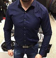 Мужская рубашка Louis Vuitton 2018 коттон Высочайшее качество
