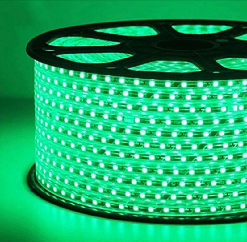 Светодиодная лента smd 2835-120 220В IP68 зеленая Premium