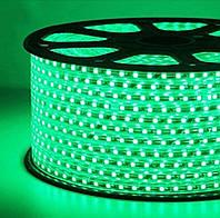 Светодиодная лента smd 2835-120 220В IP68 зеленая Premium, фото 1