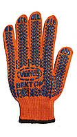 Перчатка с ПВХ покрытие  арт. 622 (оранж.) (10\200 шт)