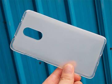 Чехол TPU для Xiaomi Redmi Note 4 / Note 4 Pro (Mediatek) бампер оригинальный белый