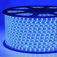 Светодиодная лента smd 2835-120 220В IP68 синяя Premium