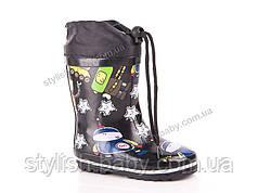Обувь для непогоды оптом в Одессе. Детские резиновые сапоги бренда Солнце для мальчиков (рр. с 23 по 28)
