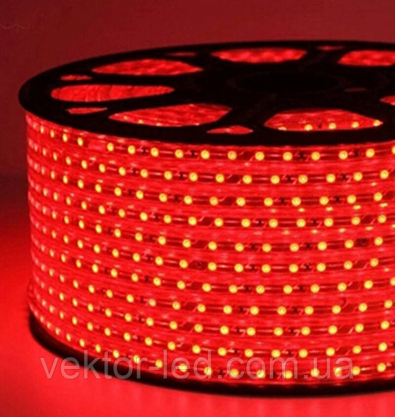 Светодиодная лента smd 2835-120 220В IP68 красная