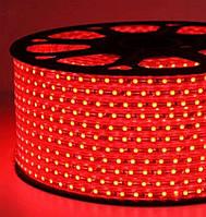 Светодиодная лента smd 2835-120 220В IP68 красная Premium