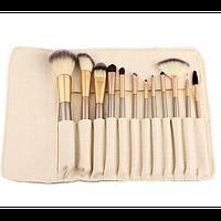 Набор кистей для макияжа 12 шт. из смешанного ворса