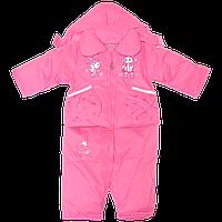 Детский весенний, осенний комбинезон (штаны на шлейках и куртка) на флисе и синтепоне, р. 80, 86, 92, 98
