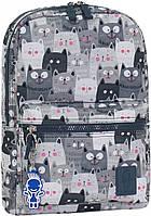 Городской рюкзак школьный Bagland mini 8л. Котики (шкільний рюкзак, мини рюкзачок, портфели, наплічник)