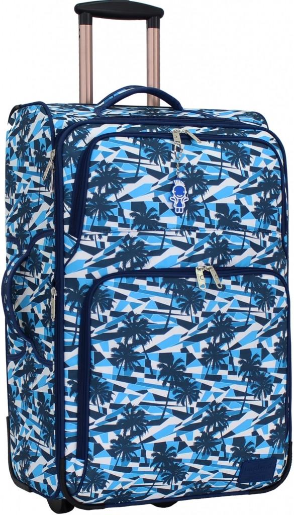 Дорожный чемодан на колесах Bagland Леон 70л. Пальмы (чемоданы, чемада